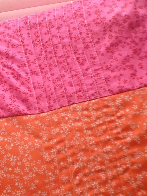 Close up of the quilting...Straight lines!