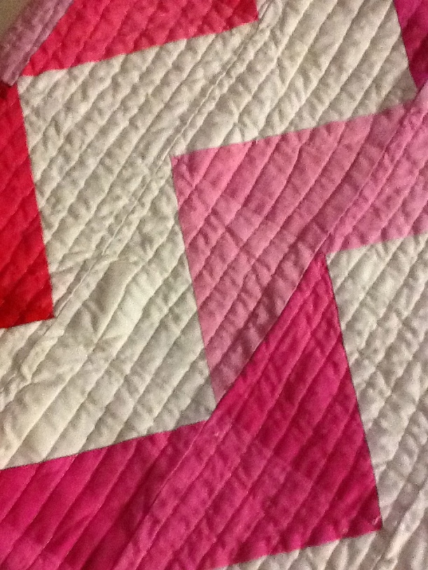 I am absolutely in LOVE with the straight line quilting!