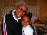 My Grandmom and my son.